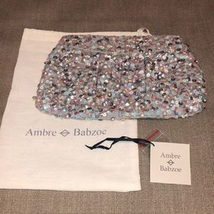 Amber Babzoe Sequin Clutch